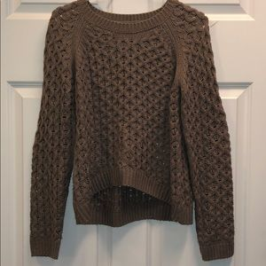 MONO B light brown sweater with elbow pads